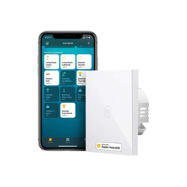 meross WLAN - Lichtschalter - Funktioniert mit Apple HomeKit, Google Assistant, Alexa und IFTTT - benötigt 2,4 GHz WLAN-Netz